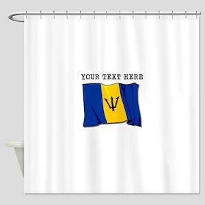 Custom Barbados Flag Shower Curtain