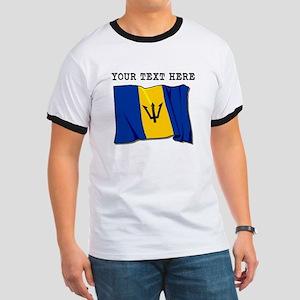 Custom Barbados Flag T-Shirt