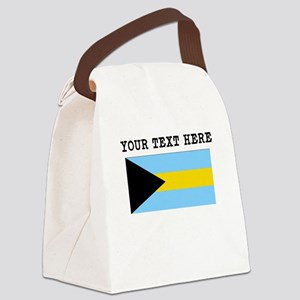 Custom Bahamas Flag Canvas Lunch Bag
