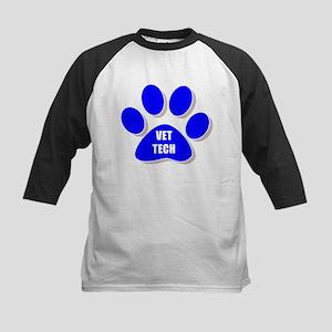 vet tech paw blue Baseball Jersey