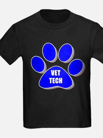 vet tech paw blue T-Shirt