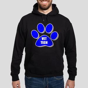 vet tech paw blue Hoodie (dark)