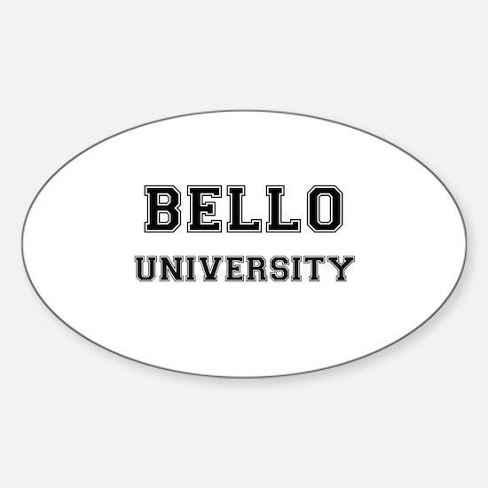 BELLO UNIVERSITY Oval Decal
