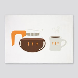Coffee Pot Mug 5'x7'Area Rug