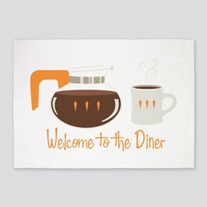 Welcome To The Diner 5'x7'Area Rug