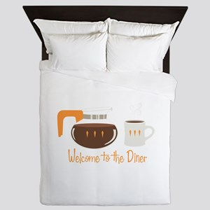 Welcome To The Diner Queen Duvet