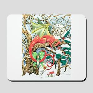 Snow dragon Mousepad