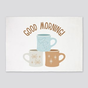 Good Morning! 5'x7'Area Rug