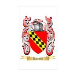 Hansell Sticker (Rectangle 50 pk)