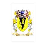 Hannuschik Sticker (Rectangle 50 pk)