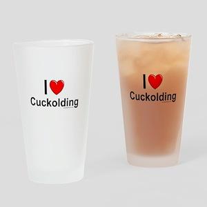 Cuckolding Drinking Glass