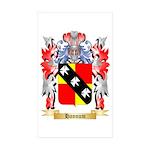 Hannum Sticker (Rectangle 50 pk)