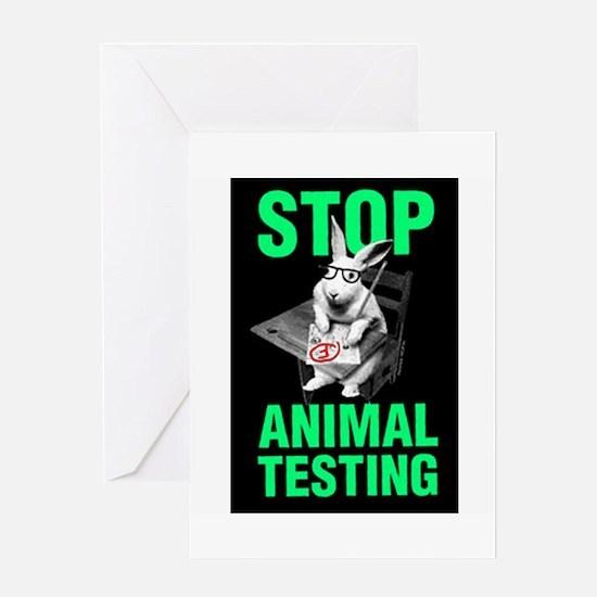 STOP ANIMAL TESTIN Greeting Cards