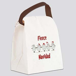 FUNNY Christmas  Fleece Navidad S Canvas Lunch Bag
