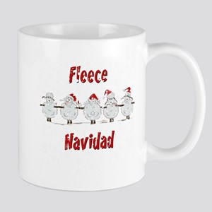 FUNNY Christmas  Fleece Navidad Sheep  Mug
