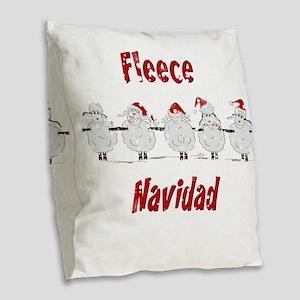 FUNNY Christmas  Fleece Navida Burlap Throw Pillow