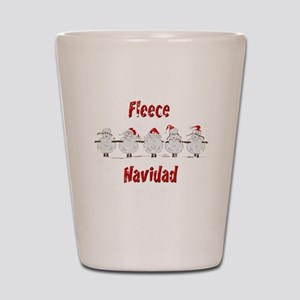 FUNNY Christmas  Fleece Navidad Sheep  Shot Glass