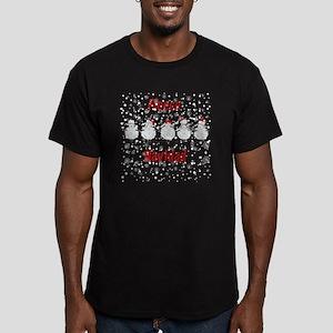 FUNNY Christmas  Fleec Men's Fitted T-Shirt (dark)