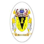 Hanneken Sticker (Oval 10 pk)