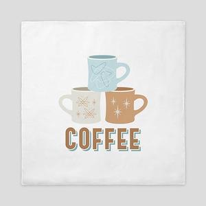 Coffee Cups Queen Duvet