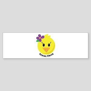Spring Chick Bumper Sticker