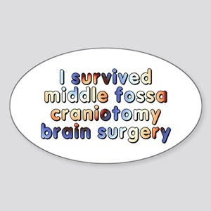 Middle fossa craniotomy - Sticker (Oval)