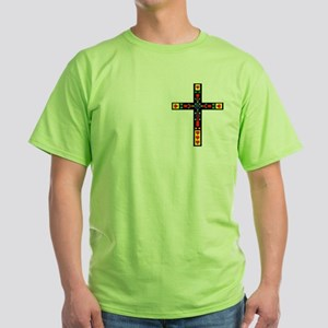 Stained Glass Cross Green T-Shirt