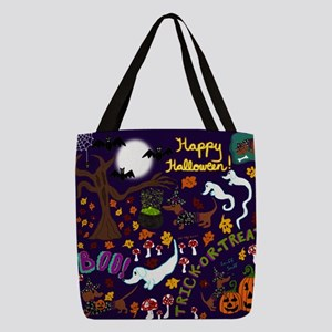 Diva Dachshund's Halloween Polyester Tote Bag