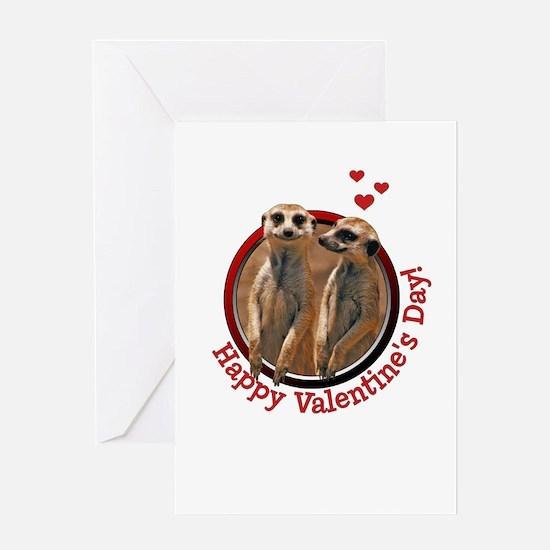 meerkatcouple-valentines Greeting Cards