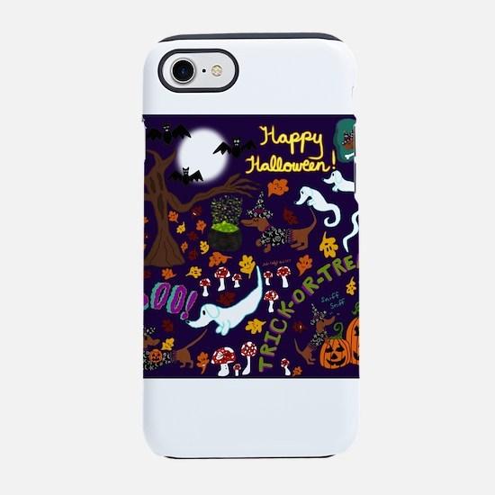 Diva Dachshund's Halloween iPhone 7 Tough Case