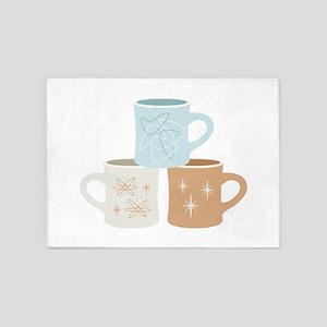 Coffee Mugs 5'x7'Area Rug