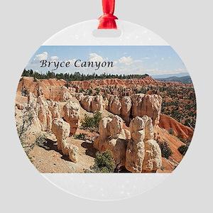 Bryce Canyon, Utah, USA 8 (caption) Round Ornament