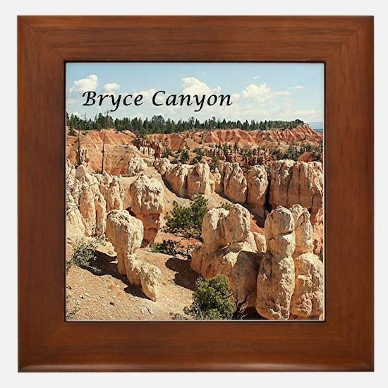Bryce Canyon, Utah, USA 8 (caption) Framed Tile