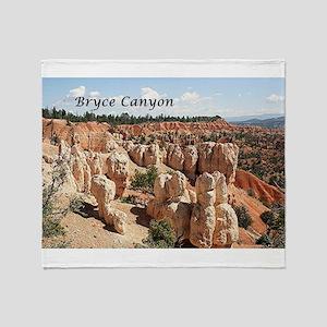 Bryce Canyon, Utah, USA 8 (caption) Throw Blanket