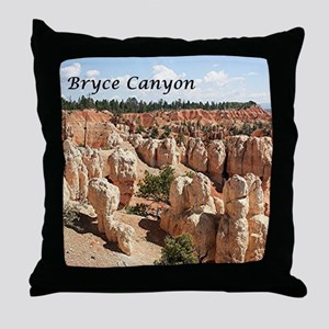 Bryce Canyon, Utah, USA 8 (caption) Throw Pillow