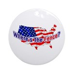 Where's The Fence - USA Ornament (Round)
