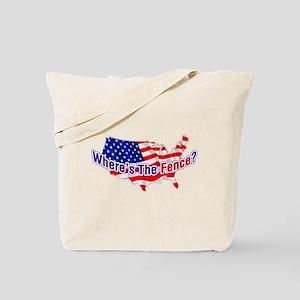 Where's The Fence - USA Tote Bag