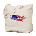 Where's The Fence - USA Tote Bag
