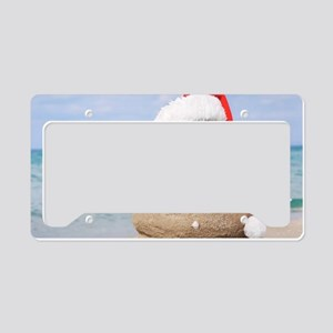 Beach Snowman License Plate Holder