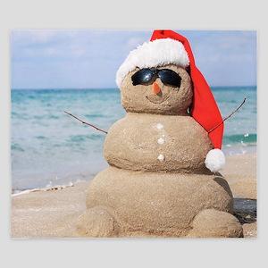 Beach Snowman King Duvet