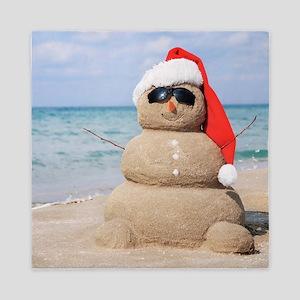 Beach Snowman Queen Duvet