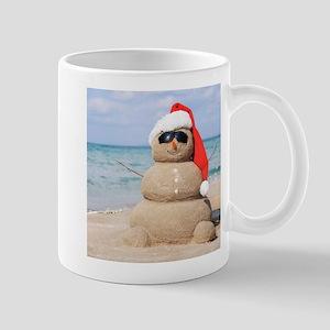 Beach Snowman Mugs