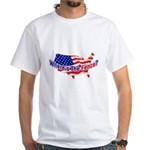 Where's The Fence - USA White T-Shirt