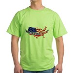 Where's The Fence - USA Green T-Shirt