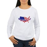 Where's The Fence - USA Women's Long Sleeve T-Shir