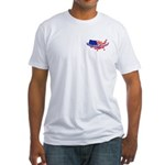 Where's The Fence - USA Fitted T-Shirt