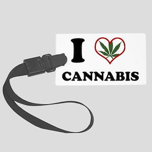 I Heart Cannabis Luggage Tag