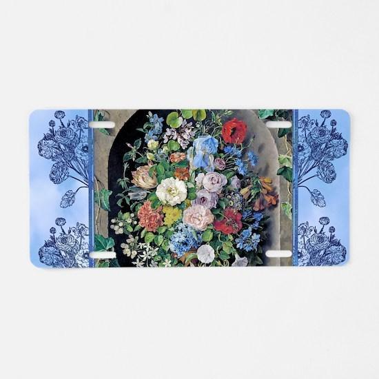 Victorian Garden Floral Nic Aluminum License Plate