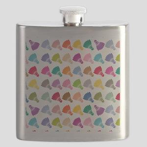 Colorful Badminton Flask