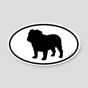 Bulldog Oval Car Magnet